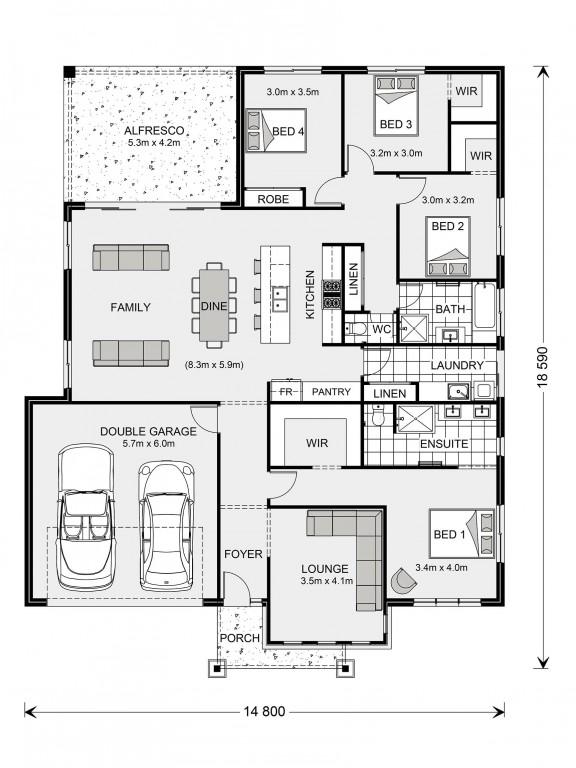Glenview 244 - Element Series Floorplan