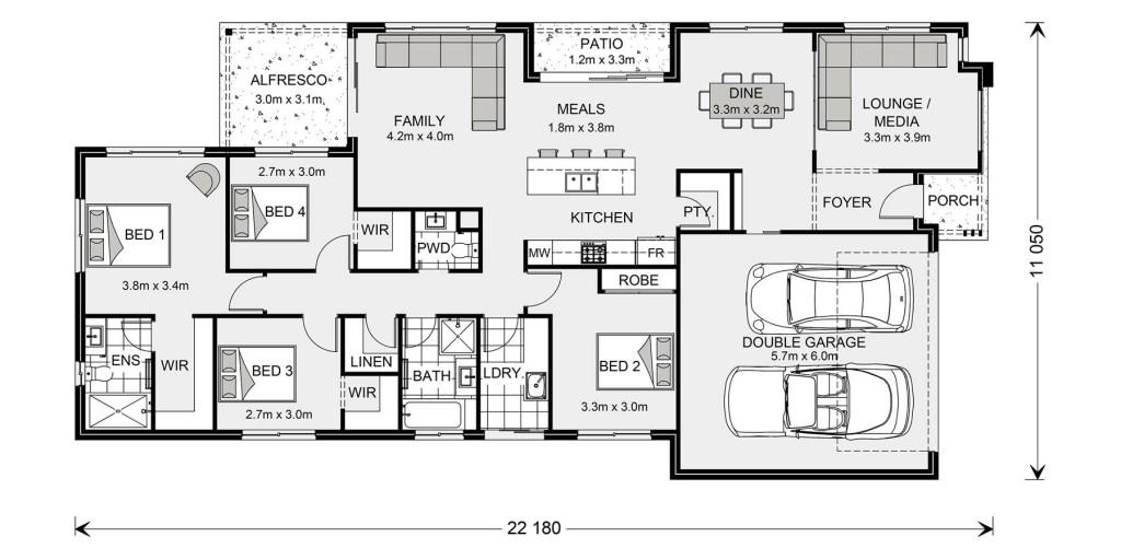 Oceanside 255 - Tailored by Darren Palmer Floorplan