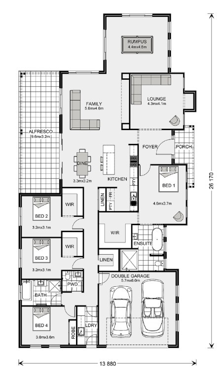 Oakdale Estate 320 - Estate Series Floorplan