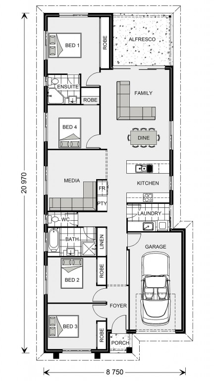 Stoneleigh 170 - Metro Series Floorplan