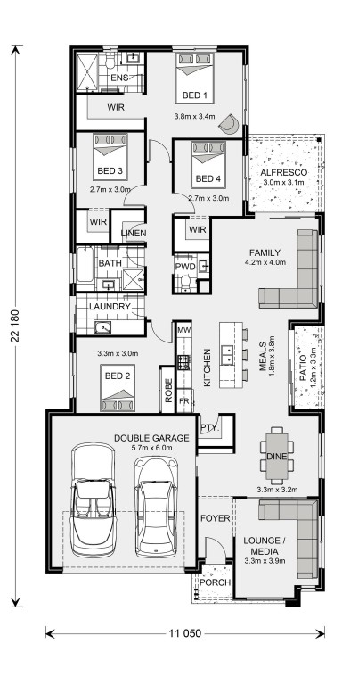 Oceanside 212 - Element Series Floorplan