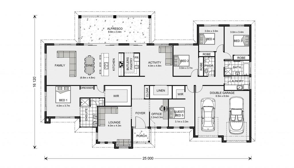 Wentworth 320 - Prestige Series Floorplan