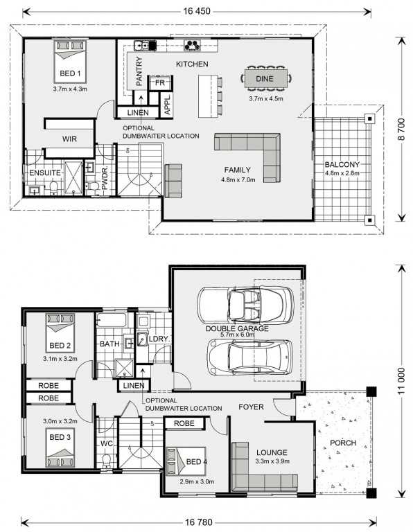Torquay - Upper Floor Living Floorplan