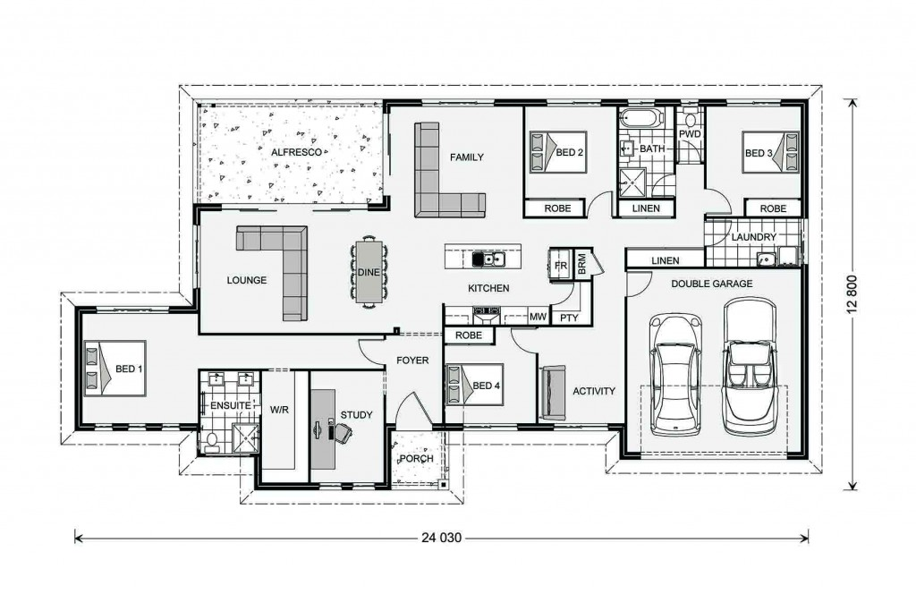 Bangalow Estate 254 - Estate Series Floorplan