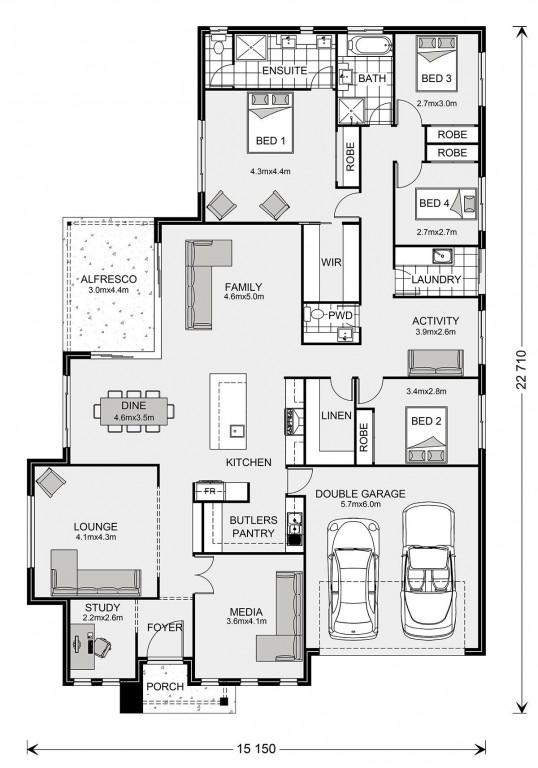 Bedarra 280 - Element Series Floorplan