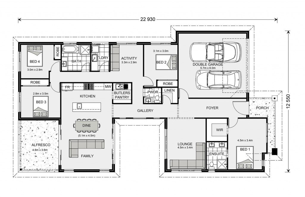 Beachmere 235 - Element Series Floorplan