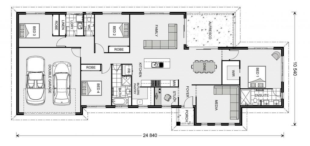 Edgewater 221 - Estate Series Floorplan
