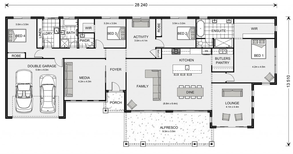 Palm Cove 315 Floorplan