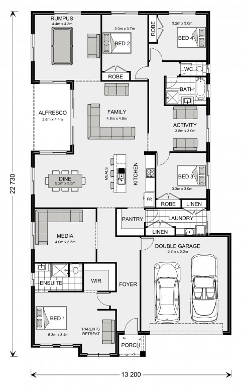 Springbrook 270 - Express Series Floorplan