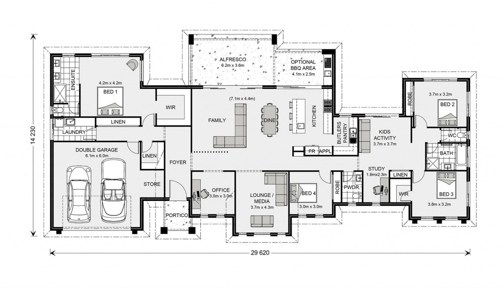 Rochedale 325 - Prestige Series Floorplan