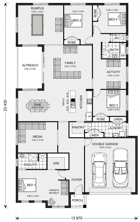 Springbrook 300 - Express Series Floorplan