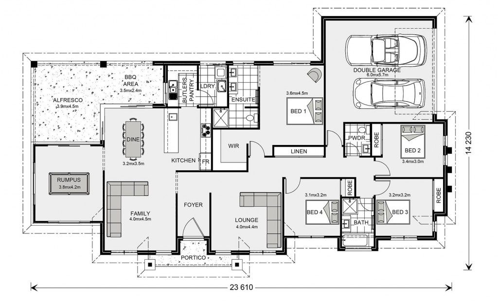 Mountain Views Estate 258 Floorplan