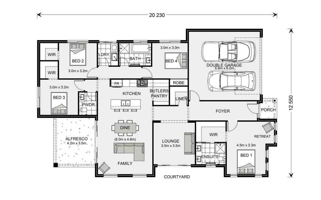 Long Bay 220 - Element Series Floorplan