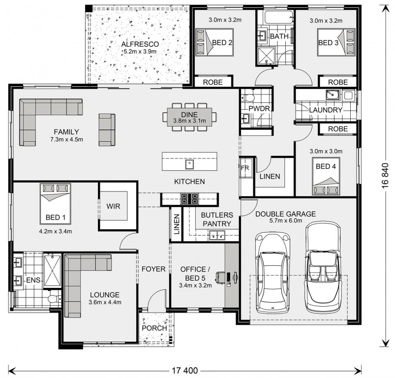 Wide Bay 262 - Estate Series Floorplan