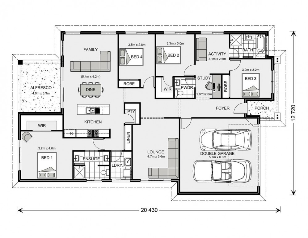Forest Park 228 - Element Series Floorplan
