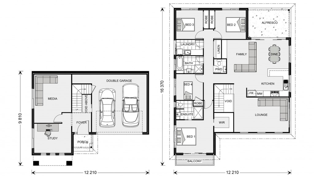 Windsor SL 268 - Split Level Series Floorplan