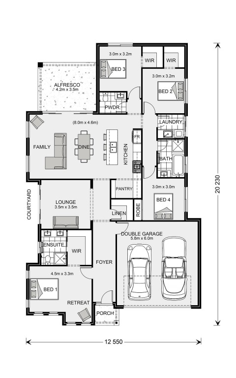 Long Bay 220 - Element Series Floorplan