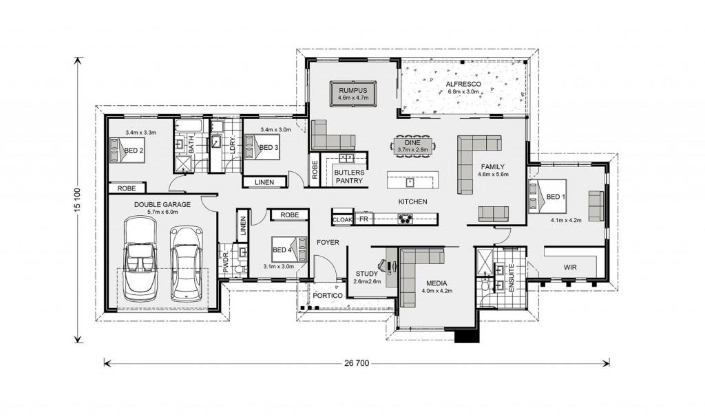 Somerset 296 - Prestige Series Floorplan