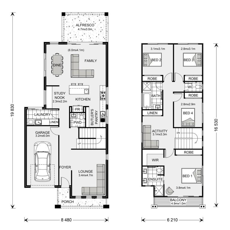 Pine Rivers 236 - Metro Series Floorplan