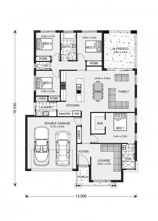 Vista 211 - Element Series Floorplan