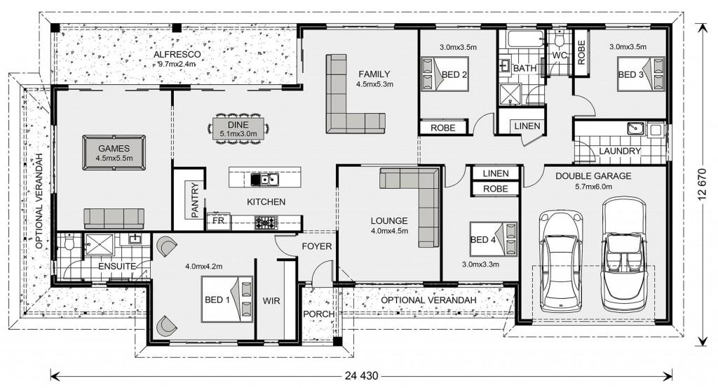 Oakhaven 280 - Homestead Series Floorplan