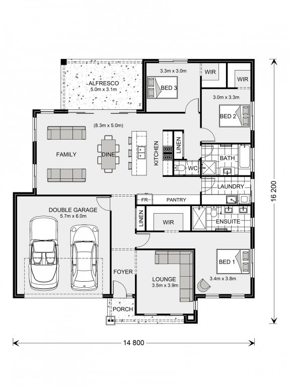 Glenview 210 - Element Series Floorplan