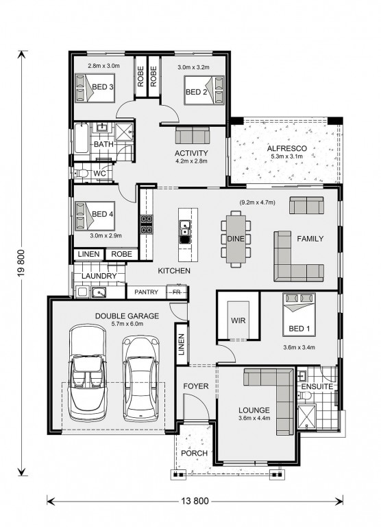 Vista 230 - Element Series Floorplan