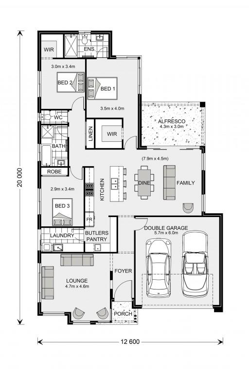 Elanora 205 - Element Series Floorplan