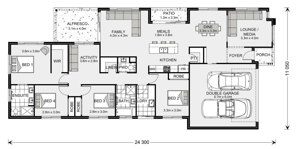 Oceanside 230 - Element Series Floorplan