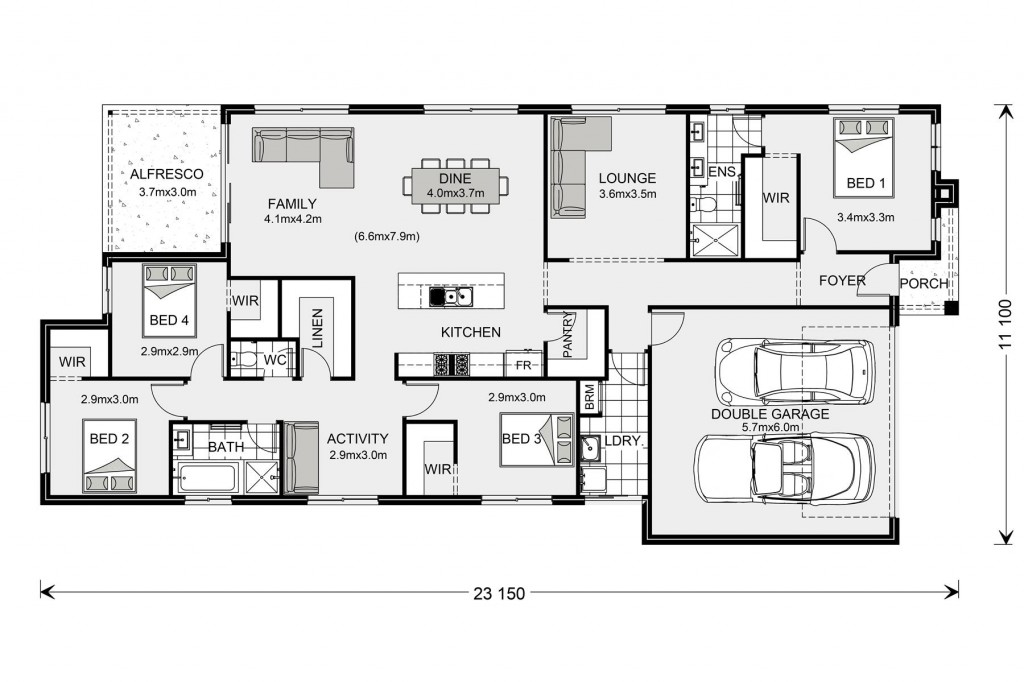 Portland 224 - Express Series Floorplan