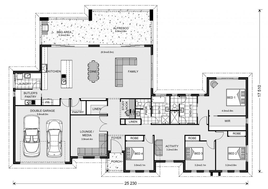 Stillwater Estate 320 - Estate Series Floorplan