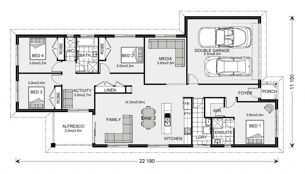 Pacific 208 - Express Series Floorplan