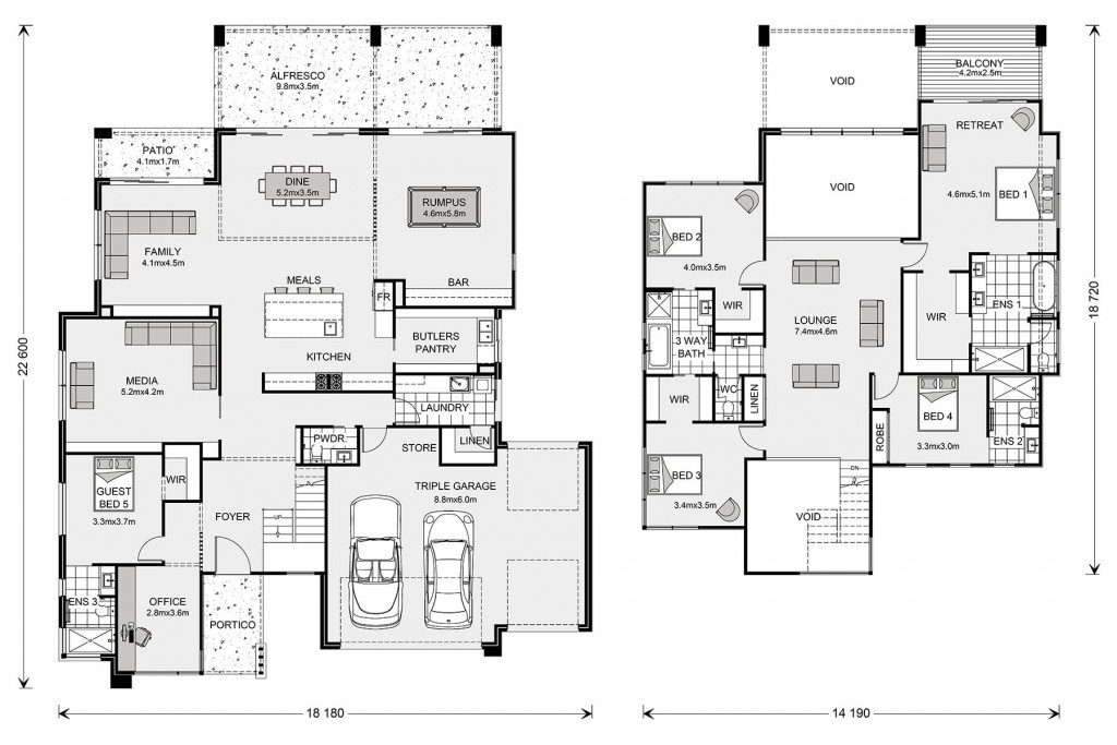 Blue Water 530 - Prestige Series Floorplan