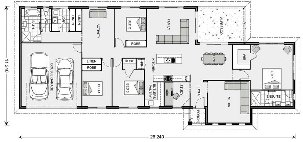 Edgewater Estate 250 - Estate Series Floorplan