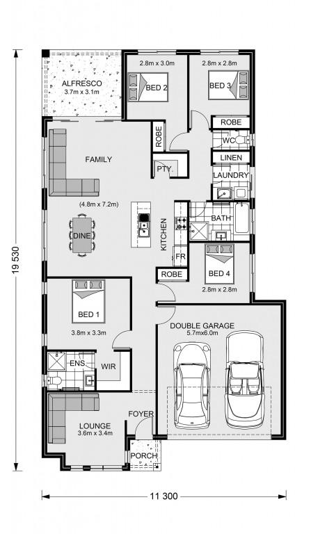 Claremont 195 - Express Series Floorplan