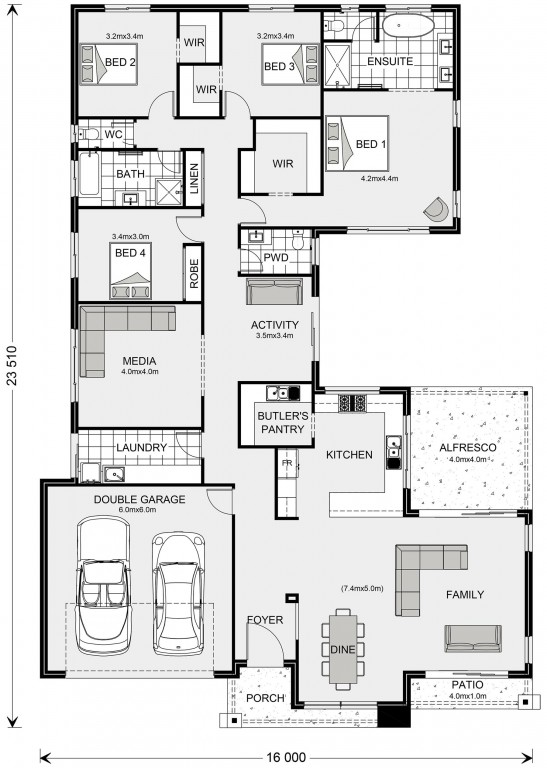 Lakeview 297 - Element Series Floorplan