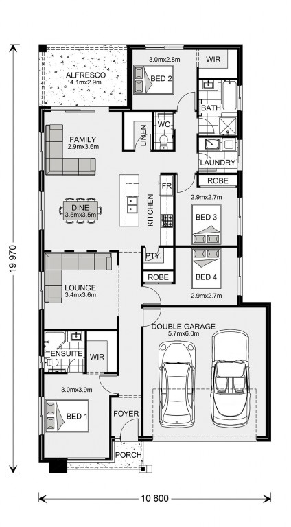 Bridgewater 190 - Element Series Floorplan