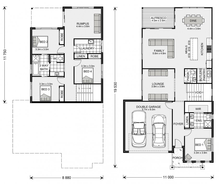 Carseldine SL 270 - Split Level Series Floorplan