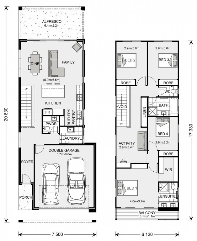 Pine Rivers 239 - Metro Series Floorplan