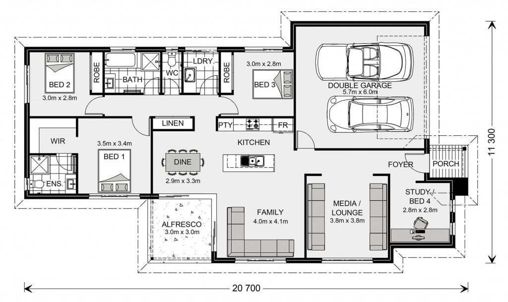 Bedarra 187 - Metro Series Floorplan