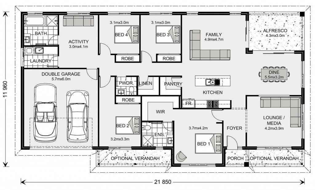Balmoral 240 - Homestead Series Floorplan