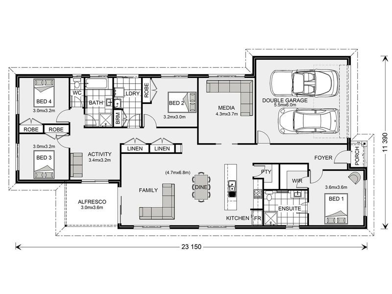 Pacific 230 - Express Series Floorplan