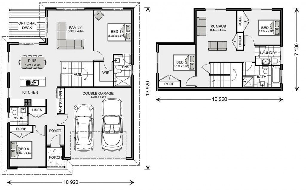Tamar SL 205 - Split Level Series Floorplan