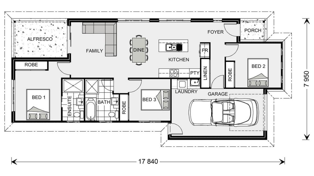 Robina 125 - Metro Series Floorplan