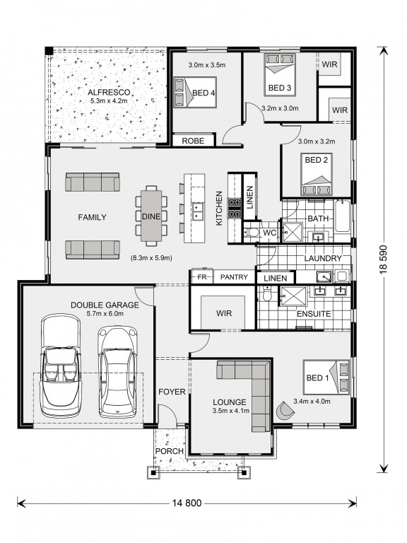 Fernbank 216 - Element Series Floorplan