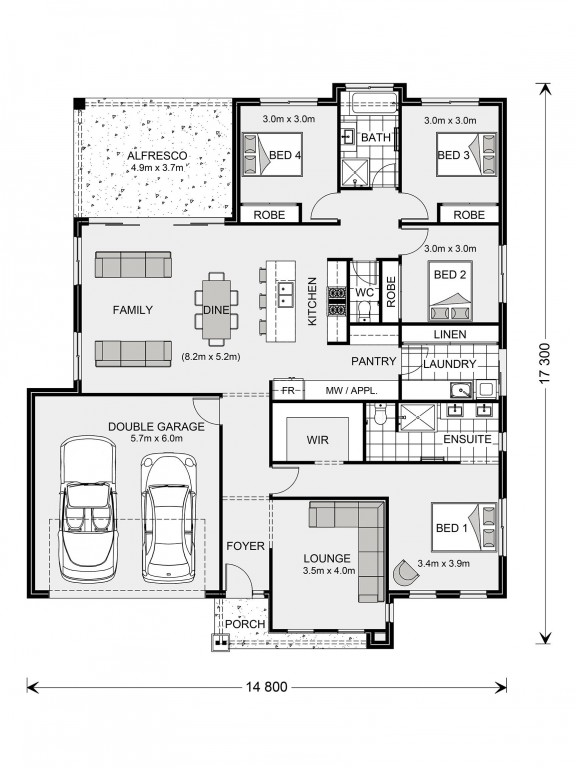 Glenview 225 - Element Series Floorplan