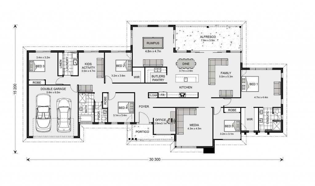 Somerset 340 - Prestige Series Floorplan