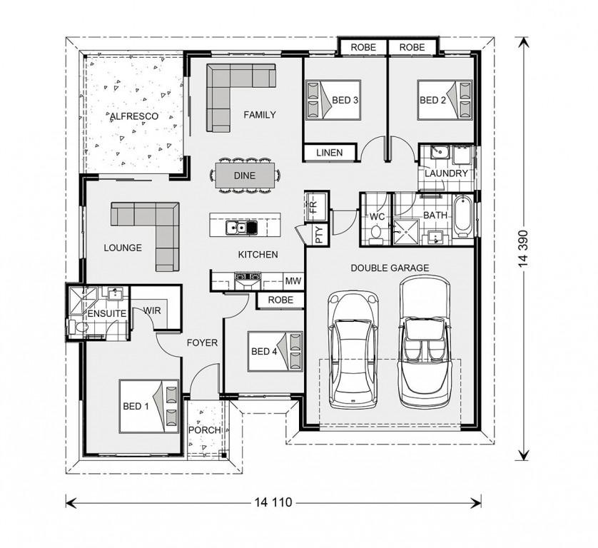 Wide Bay 196 - Element Series Floorplan