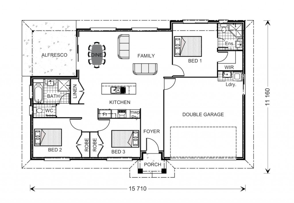 Nova 160 - Estate Series Floorplan