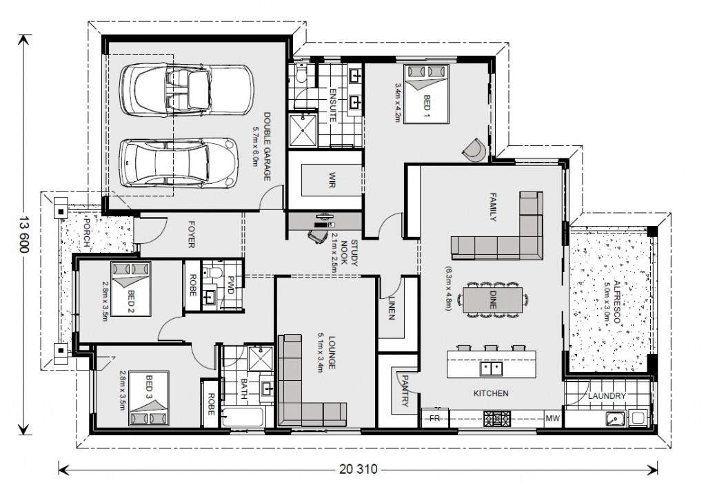 Newport 230 - Element Series Floorplan